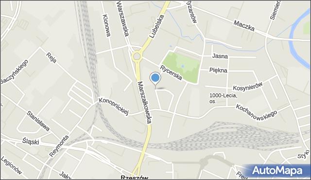 Rzeszów, Podchorążych, mapa Rzeszów