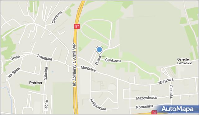Rzeszów, Polna, mapa Rzeszów