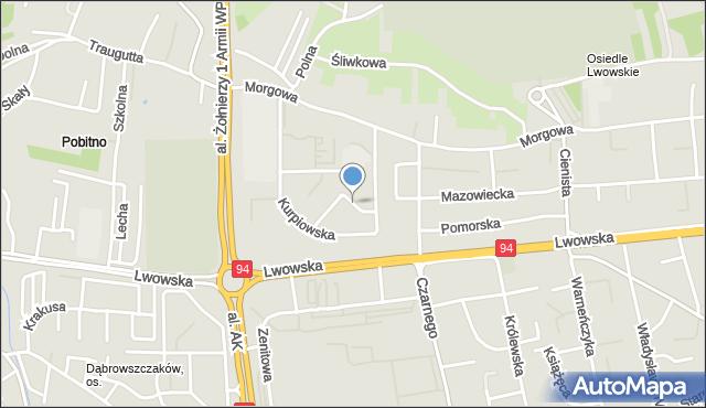 Rzeszów, Podhalańska, mapa Rzeszów
