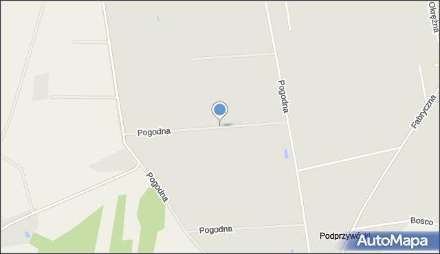 Sokołów Podlaski, Pogodna, mapa Sokołów Podlaski