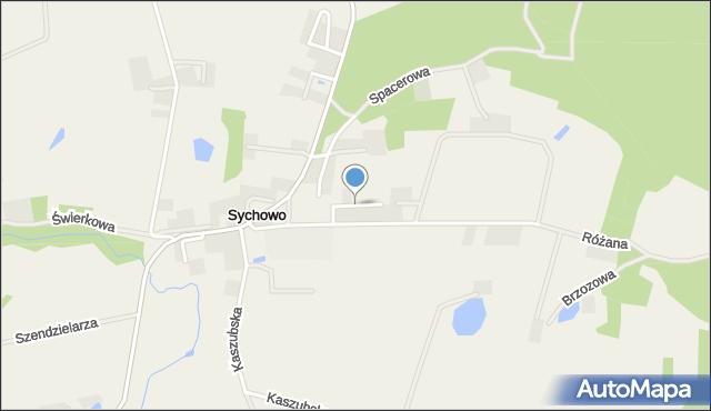 Sychowo, Popiełuszki Jerzego, bł. ks., mapa Sychowo