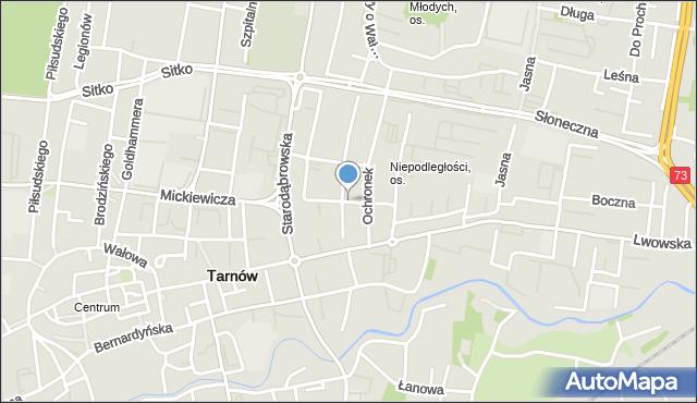 Tarnów, Polna, mapa Tarnów
