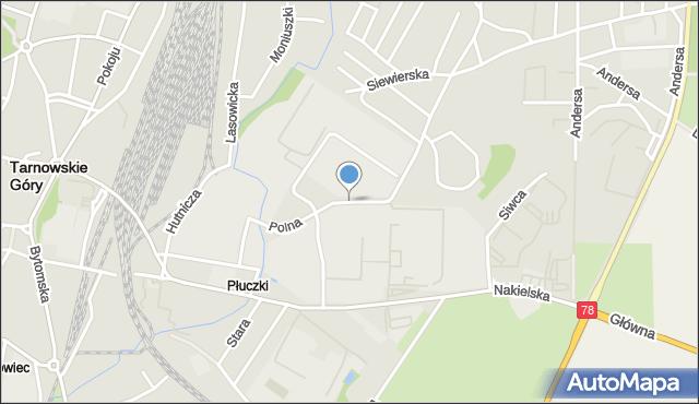 Tarnowskie Góry, Polna, mapa Tarnowskie Góry