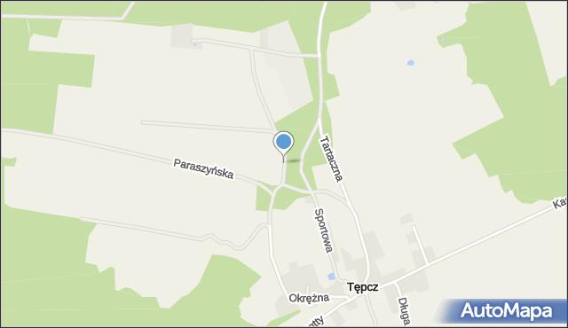 Tępcz, Polna, mapa Tępcz