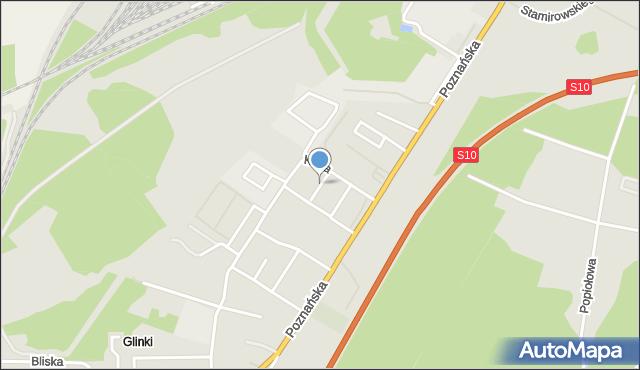 Toruń, Pogodna, mapa Torunia