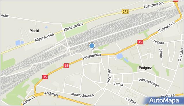 Toruń, Pokątna, mapa Torunia
