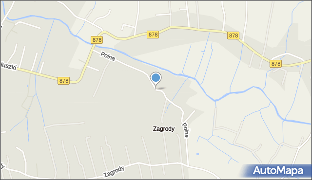 Tyczyn powiat rzeszowski, Polna, mapa Tyczyn powiat rzeszowski
