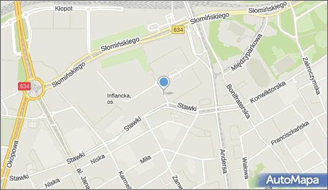Warszawa, Pokorna, mapa Warszawy