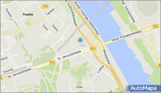 Warszawa, Potockiego Ignacego, mapa Warszawy