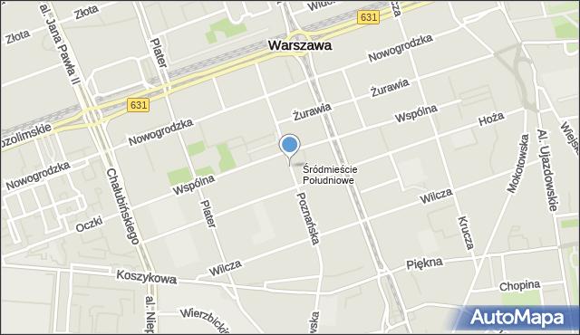 Warszawa, Poznańska, mapa Warszawy