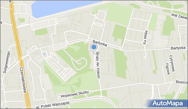 Warszawa, Pod Kopcem, mapa Warszawy