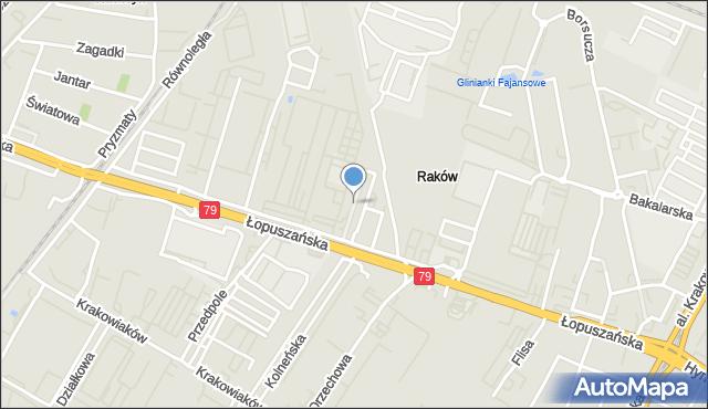 Warszawa, Porcelanowa, mapa Warszawy