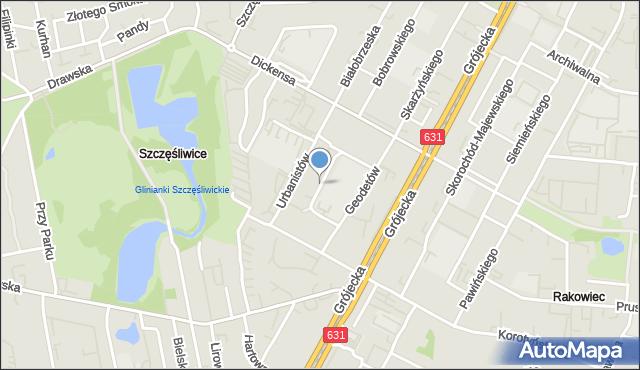 Warszawa, Powstańców Wielkopolskich, mapa Warszawy