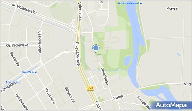 Warszawa, Potockiego Stanisława Kostki, mapa Warszawy