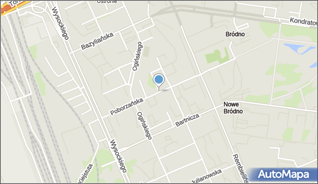 Warszawa, Poborzańska, mapa Warszawy