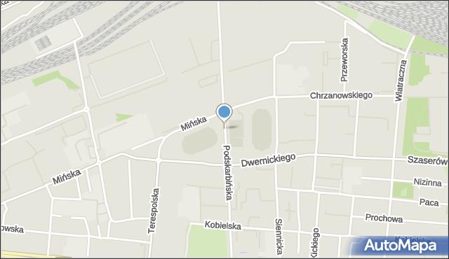 Warszawa, Podskarbińska, mapa Warszawy