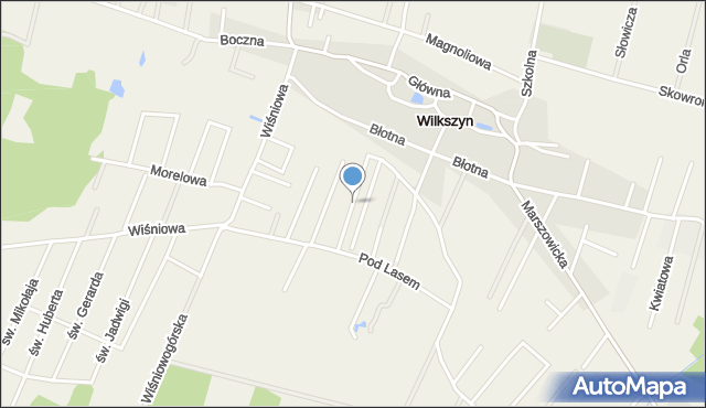 Wilkszyn, Pogodna, mapa Wilkszyn