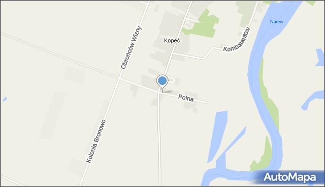 Wizna, Polna, mapa Wizna