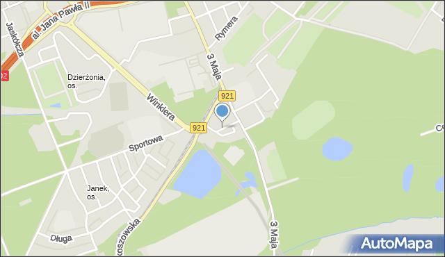 Zabrze, Podleśna, mapa Zabrza