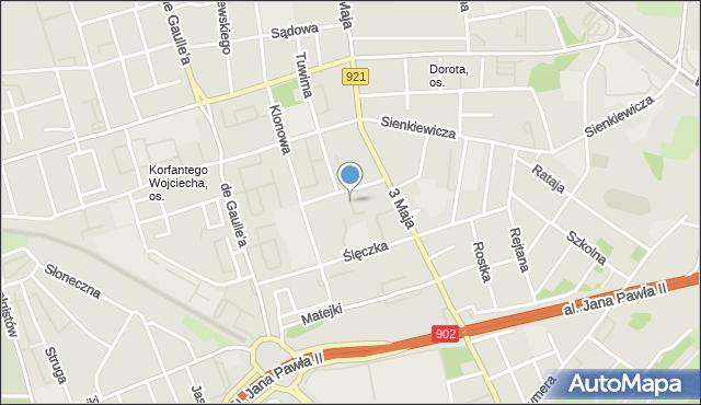 Zabrze, Pola Wincentego, mapa Zabrza