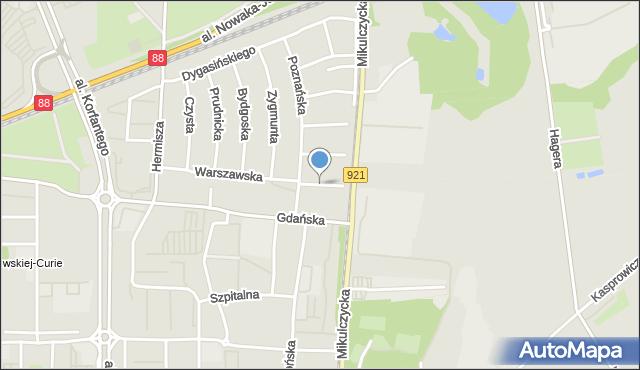 Zabrze, Poranna, mapa Zabrza
