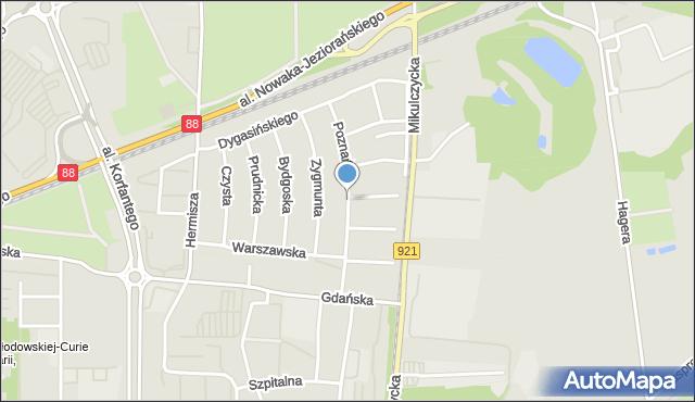 Zabrze, Poznańska, mapa Zabrza