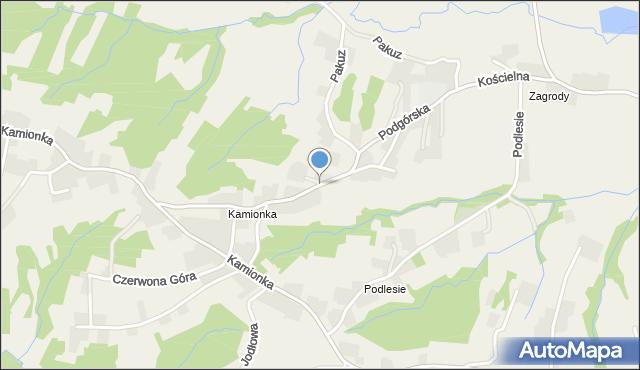 Zakliczyn gmina Siepraw, Podgórska, mapa Zakliczyn gmina Siepraw