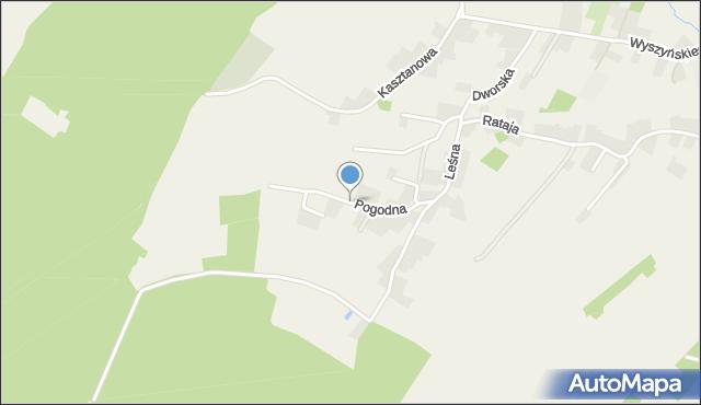 Żurawica powiat przemyski, Pogodna, mapa Żurawica powiat przemyski