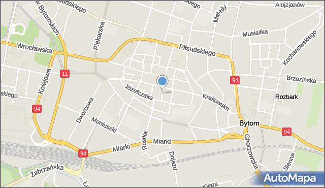 Bytom, Przechodnia, mapa Bytomia