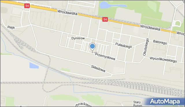 Bytom, Przemysłowa, mapa Bytomia