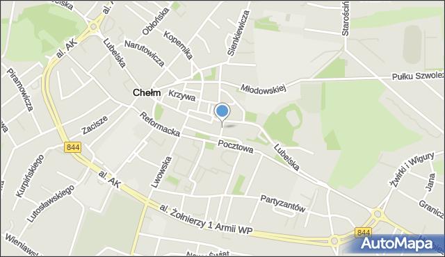 Chełm, Przechodnia, mapa Chełma
