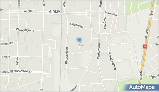 Częstochowa, Przemysłowa, mapa Częstochowy