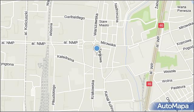 Częstochowa, Przesmyk, mapa Częstochowy