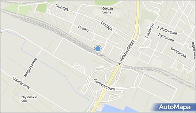 Gdynia, Promowa, mapa Gdyni