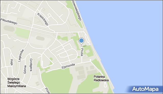 Gdynia, Prusa Bolesława, mapa Gdyni