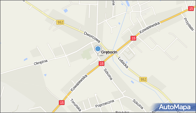 Grębocin gmina Lubicz, Pronobisa Jana, ks., mapa Grębocin gmina Lubicz
