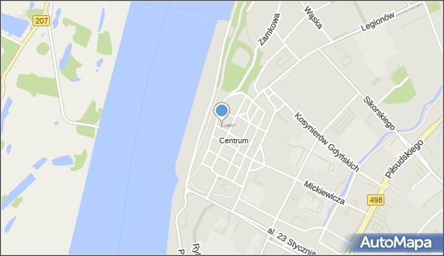 Grudziądz, Prosta, mapa Grudziądza