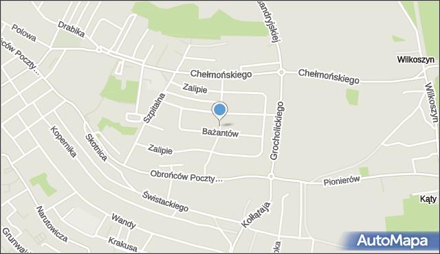 Jaworzno, Przepiórek, mapa Jaworzno