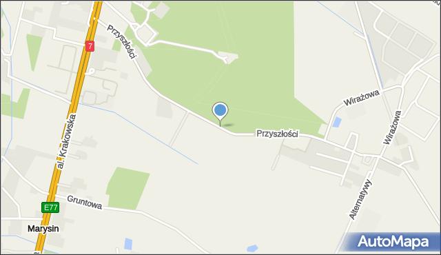 Łazy gmina Lesznowola, Przyszłości, mapa Łazy gmina Lesznowola
