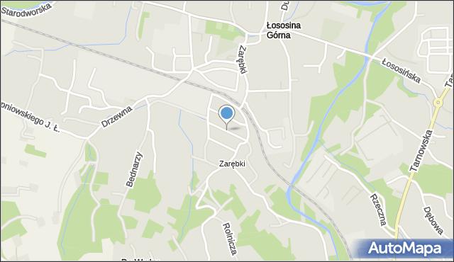 Limanowa, Prusa Bolesława, mapa Limanowa