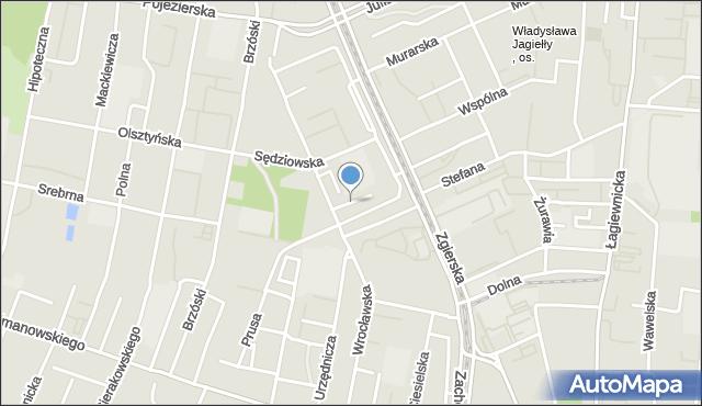 Łódź, Profesorska, mapa Łodzi