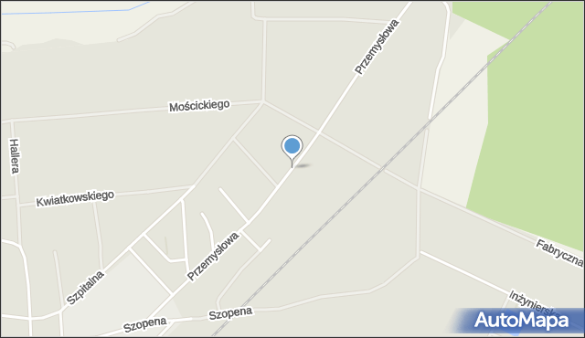 Lubaczów, Przemysłowa, mapa Lubaczów