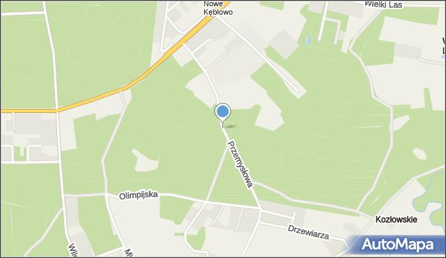 Luzino, Przemysłowa, mapa Luzino
