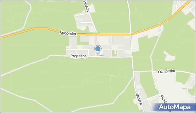 Luzino, Przyleśna, mapa Luzino