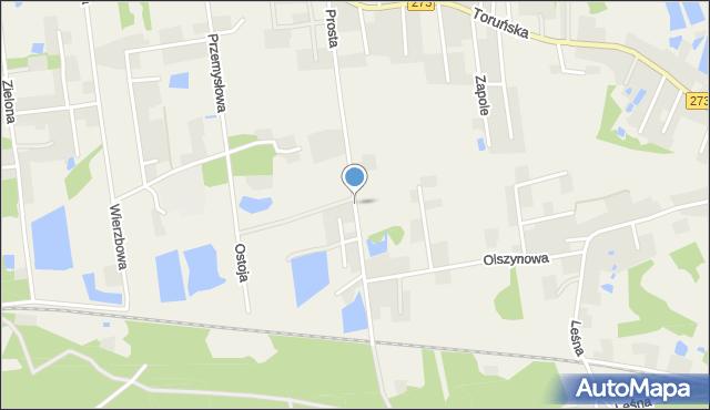 Mała Nieszawka, Prosta, mapa Mała Nieszawka