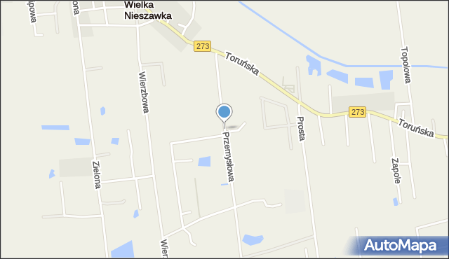 Mała Nieszawka, Przemysłowa, mapa Mała Nieszawka