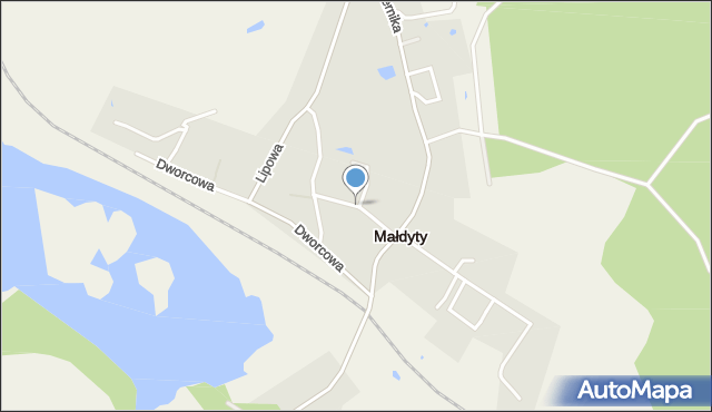 Małdyty, Prusa, mapa Małdyty