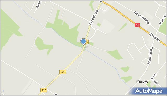 Mikołów, Przelotowa, mapa Mikołów