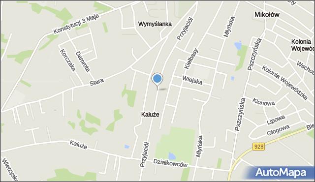 Mikołów, Przyjaciół, mapa Mikołów