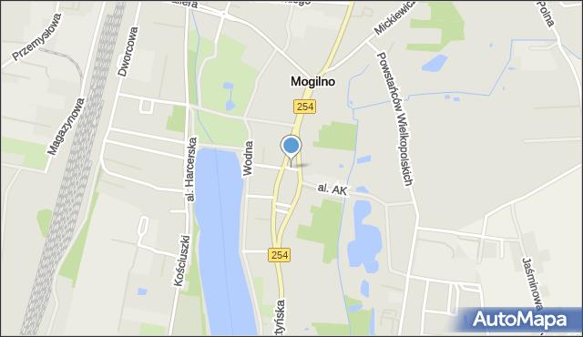 Mogilno, Przesmyk, mapa Mogilno